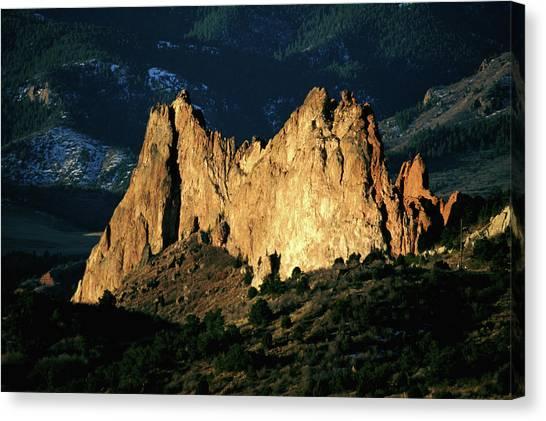 Usa, Colorado, Aspen, Garden Of The Canvas Print