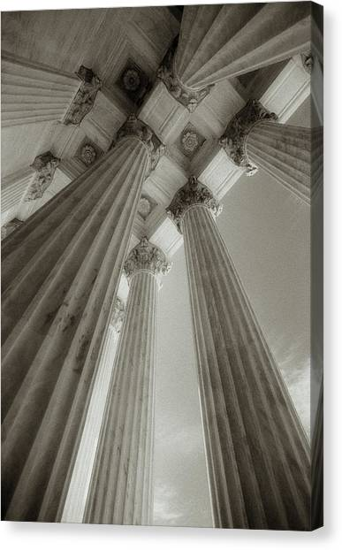 Usa, Washington, Dc, Supreme Court Canvas Print