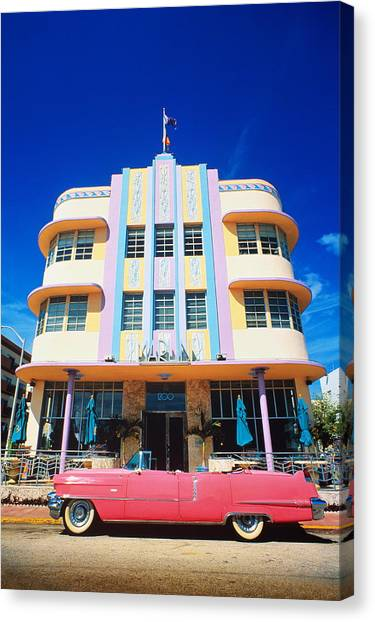 Usa,florida,miami Beach,art Deco Canvas Print