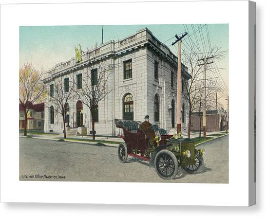 20th Canvas Print - Usps Waterloo Iowa by Greg Joens