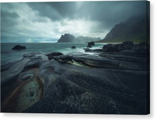 Storm Clouds Canvas Print - Uttakleiv Mood by Tor-Ivar Naess