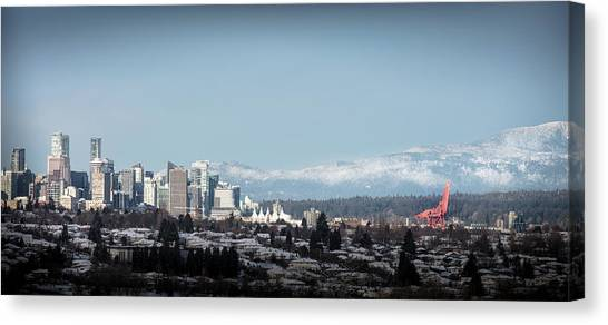 Canvas Print featuring the photograph Vacouver Winter 1 by Juan Contreras