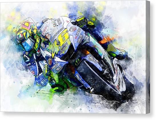 Valentino Rossi - 20 Canvas Print
