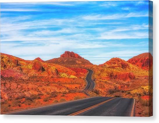 Valley Road Canvas Print by Fernando Margolles