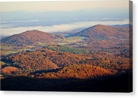 Canvas Print featuring the photograph Valley View by Candice Trimble