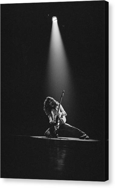 Van Halen Live At The Rainbow Canvas Print by Fin Costello