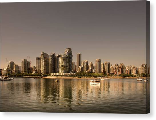 Vancouver Golden Light Hour Canvas Print