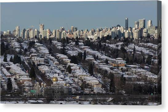 Canvas Print featuring the photograph Vancouver In Winter No. 1 by Juan Contreras