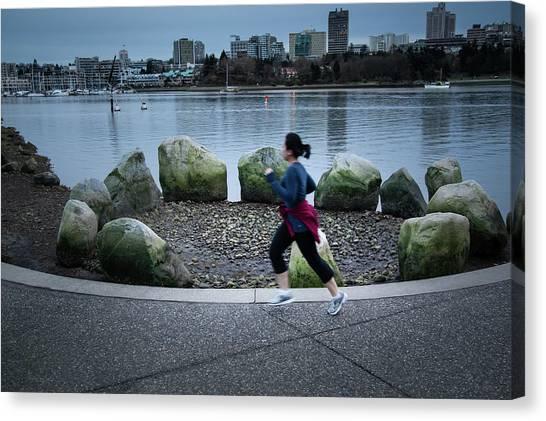 Canvas Print featuring the photograph Vancouver Landscape by Juan Contreras