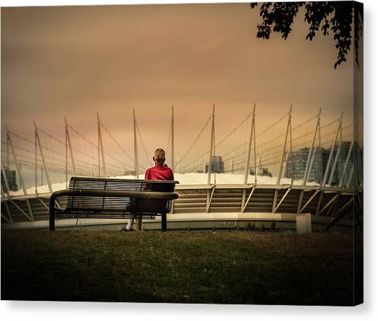 Vancouver Stadium In A Golden Hour Canvas Print