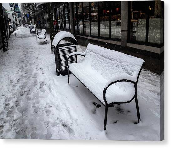 Canvas Print featuring the photograph Vancouver Winter by Juan Contreras