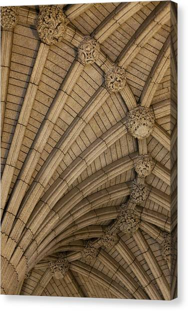 Parliament Hill Canvas Print - Vaulted Ceiling In The Centre Block In by Garry Black