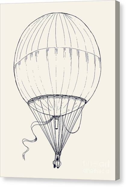 Basket Canvas Print - Vector Hand Drawn Ink Pen Illustration by Mascha Tace