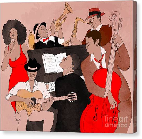 Soul Canvas Print - Vector Illustration Of A Jazz Band by Isaxar