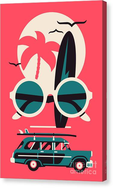 Happy Canvas Print - Vector Modern Flat Wall Art Poster by Mascha Tace