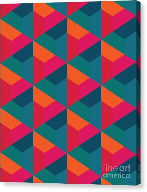 Sheet Canvas Print - Vector Modern Seamless Colorful by Sunspire