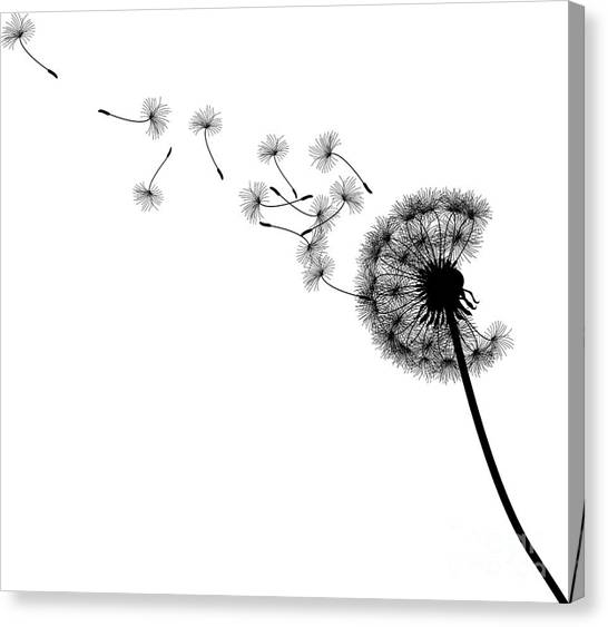 Nature Canvas Print - Vector Silhouette Graphic Illustration by Robert F. Balazik