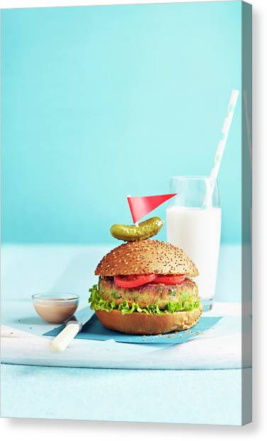 Vegetarian Burger Canvas Print