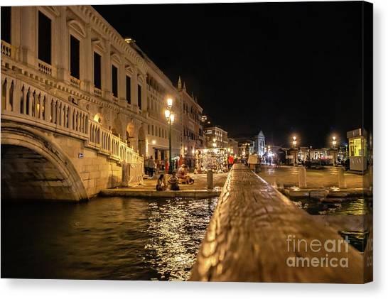 Venice At Night. San Marco Canvas Print