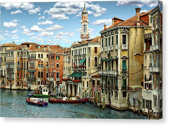 Canvas Print featuring the photograph Venice Canal by Anthony Dezenzio