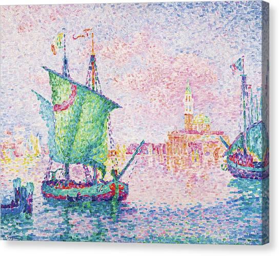 Signac Canvas Print - Venice, The Pink Cloud - Digital Remastered Edition by Paul Signac