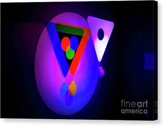Mba Canvas Print - Venn Diagram Form By Coloured Lights Q2 by Avi Horovitz