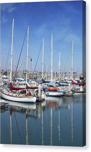 Harbor Canvas Print - Ventura Harbor  By Linda Woods by Linda Woods
