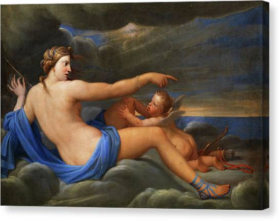 God Of War Canvas Print - Venus And Cupid by French painter of the 18th century
