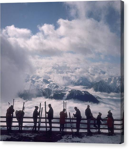 Verbier View Canvas Print