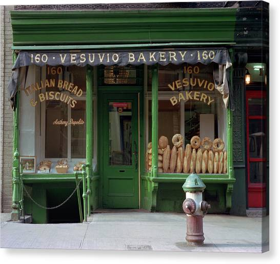 Vesuvio Bakery Canvas Print by Michael Gerbino