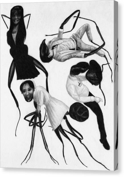 Victims Of Karoshi - Artwork Canvas Print