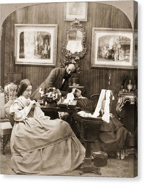 Victorian Life Canvas Print by Otto Herschan Collection