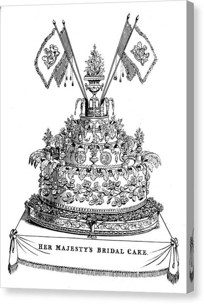 Victorias Wedding Cake Canvas Print by Hulton Archive