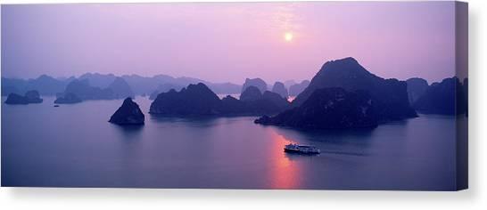 Vietnam, Gulf Of Tonkin, Halong Bay Canvas Print by Andrea Pistolesi