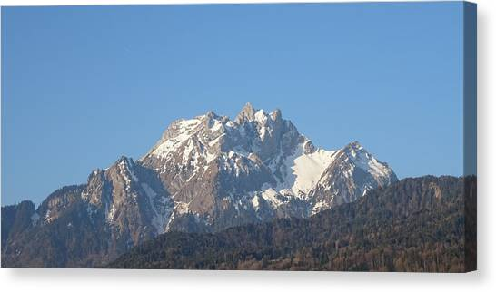 View From My Art Studio - Pilatus I - April 2019 Canvas Print