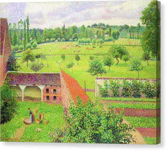 Camille Canvas Print - View From My Window, Eragny-sur-epte - Digital Remastered Edition by Camille Pissarro