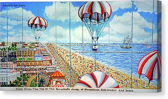 View From Parachute Jump Towel Version Canvas Print