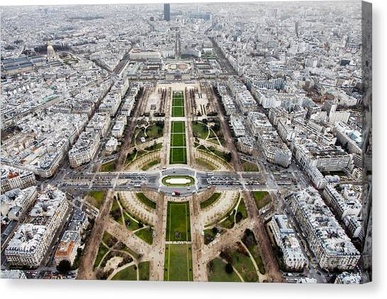 Parisian Canvas Print - View From The Eiffel Tower, Down The by Steven Bostock