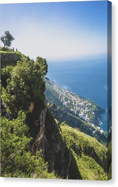 Canvas Print featuring the photograph View Of Amalfi Italy From Path Of The Gods by Nathan Bush