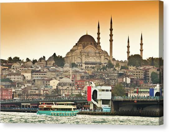 Suleymaniye Canvas Print - View Of Istanbul by (c) Thanachai Wachiraworakam