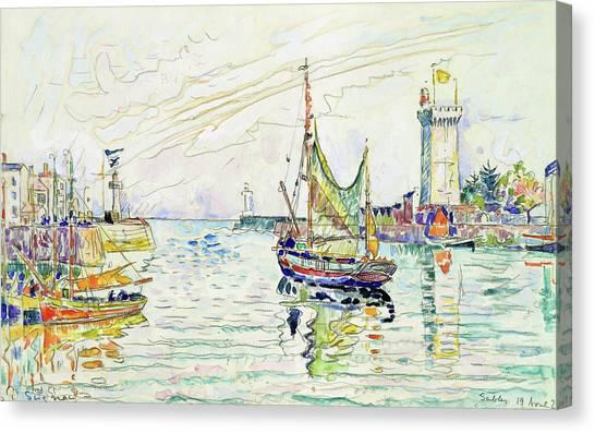 Signac Canvas Print - View Of Les Sables D'olonne - Digital Remastered Edition by Paul Signac