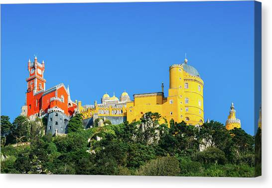 View Of Pena National Palace, Sintra, Portugal, Europe Canvas Print