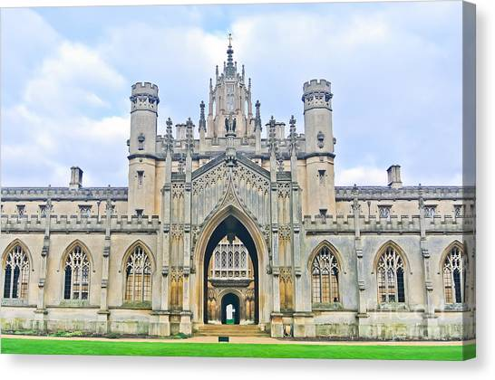 Student Canvas Print - View Of St Johns College, University Of by Javen
