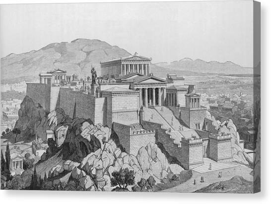 View Of The Acropolis Canvas Print by Kean Collection