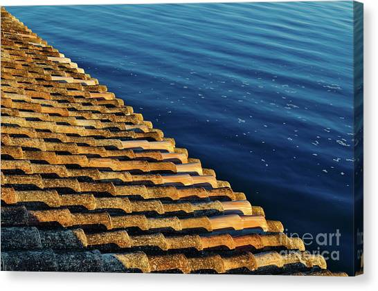 View Of The River From The Rooftop. Algarve Canvas Print