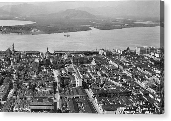 View Over Santos Canvas Print by Hulton Archive