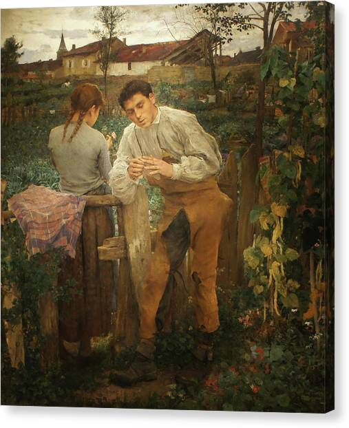 Village Lovers Canvas Print by Jules Bastien-Lepage