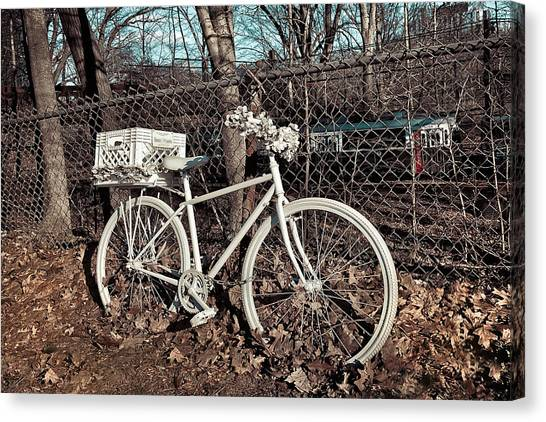 Canvas Print featuring the photograph Vintage Bicycle by Joann Vitali