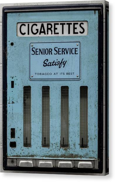 Senior Service Vintage Cigarette Vending Machine Canvas Print