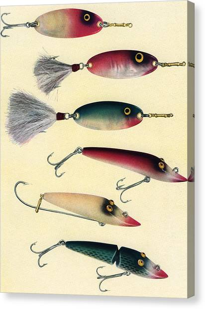 Vintage Fishing Lures Canvas Print